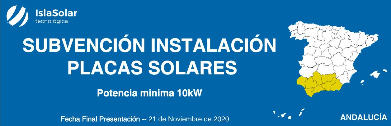 Subvención Placas Solares Andalucía