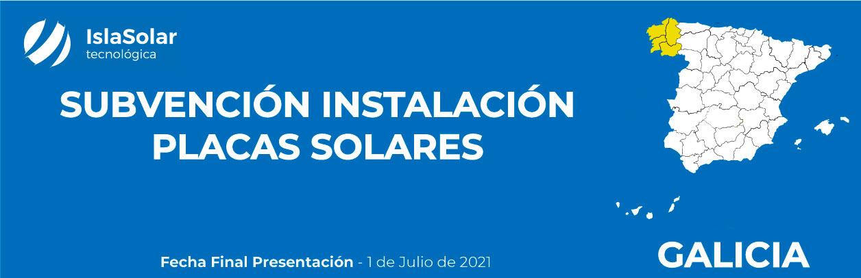 Subvenciones Placas Solares Galicia