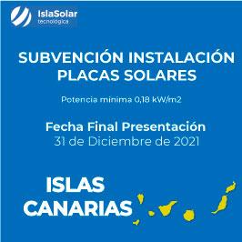 Subvenciones Placas solares CANARIAS VIVIENDAS