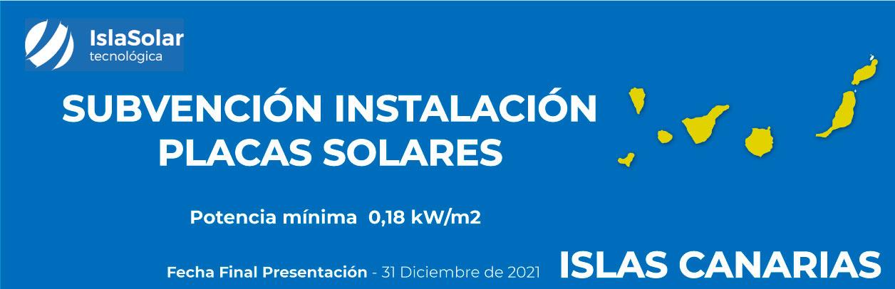 Subvenciones Placas solares CANARIAS EMPRESAS