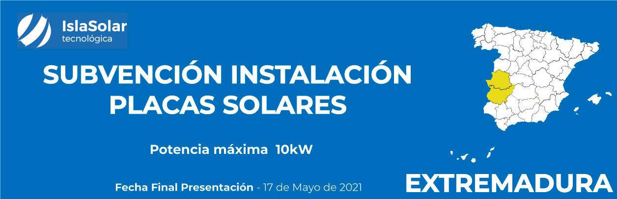 Subvenciones Placas solares EXTREMADURA