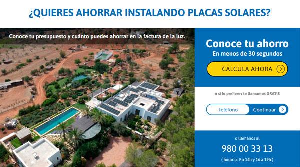 Calcular precio placas solares en Valencia