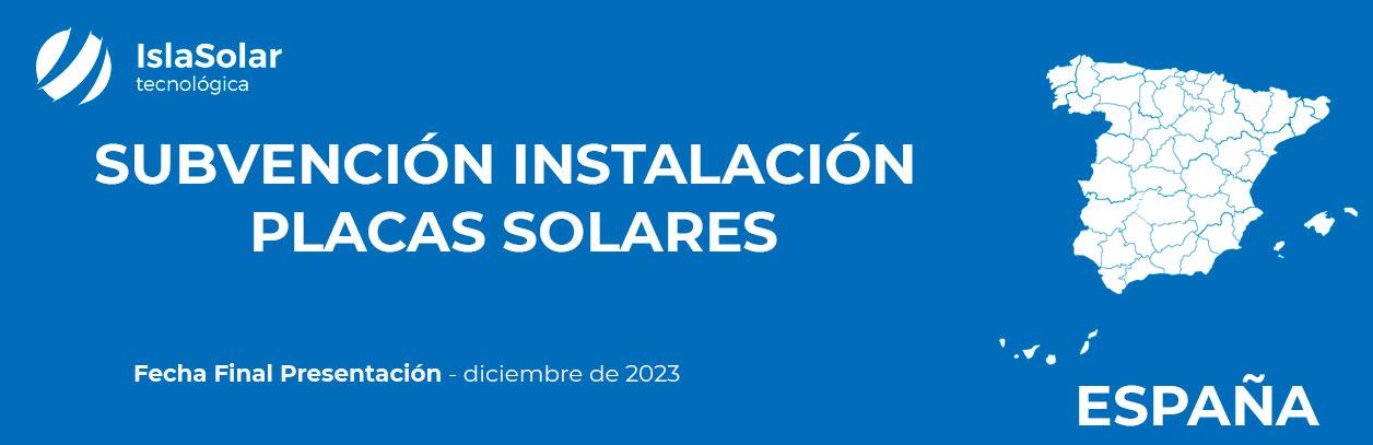 Nuevas subvenciones placas Solares España 2021
