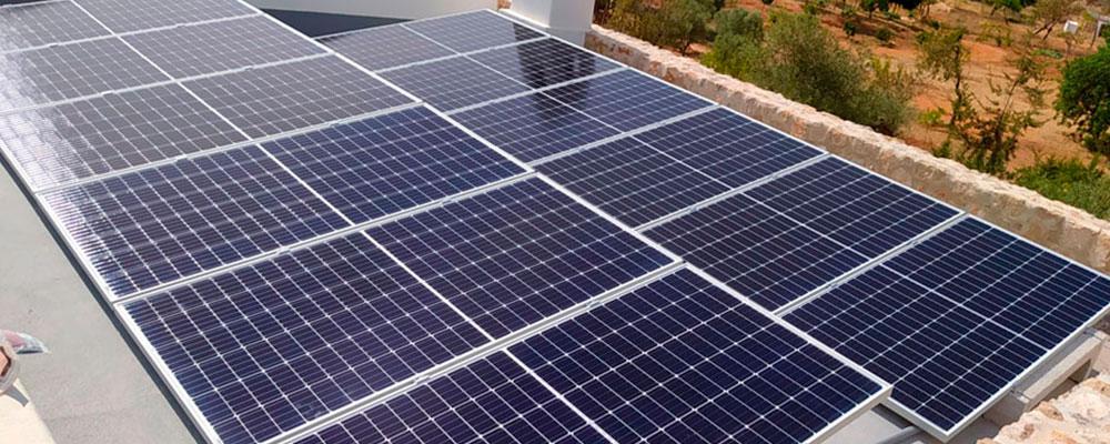 Sistema Triangular solar bloc paneles solares