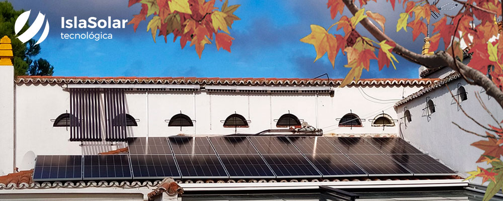 Otoño, energía solar fotovoltaica