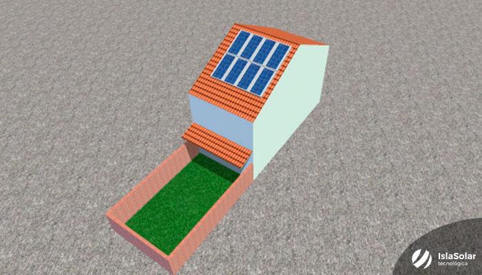 Placas solares En Íscar proyecto en 3D
