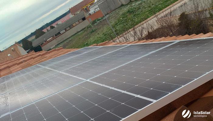 Placas Solares en vivienda de Íscar Valladolid